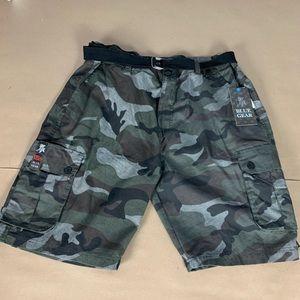 NWT blue gear camp shorts